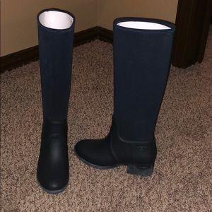Brand New Tory Burch Navy Rain Boots
